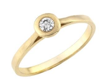 Minimalist Diamond Ring, Classic Diamond Engagement Ring, Diamond Engagement Ring, Minimalist Engagement Ring, Diamond Jewelry, Gold Diamond