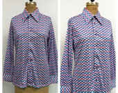 Reserved for Nancy 1960s Emilio Pucci Blouse 60s Shirt