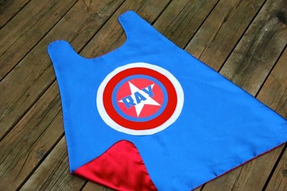 Halloween Ready - Kids Personalized Star Superhero CAPE - Customized kid gift - Full name Super hero birthday gift - Fast Ship