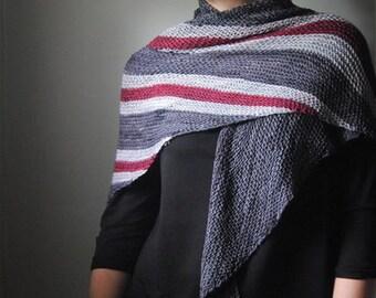SMITE Knitting Pattern PDF Fingering weight Shawl