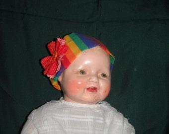 Dolls' Headband - Fabric Headband - Girls  Babys - Headband with Fabric Flower - Rosette