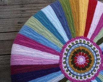 STRIPY PILLOW - Crochet Pattern, PDF, Cushion, Pouf, Pillow
