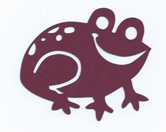 Smiling frog silhouette