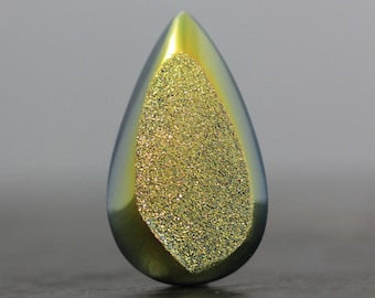 CLEARANCE - SALE - Metallic Green Druzy Agate with Top Quality, USA, Titanium Coating - 37mm (8514)