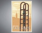 Fall River Old City Hall Bells Retro Styled Poster