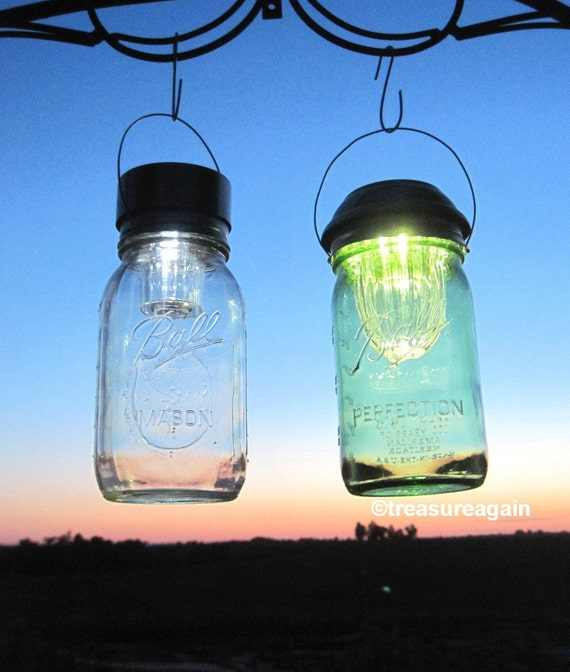 2 sizes mason jar solar lids wide mouth 4x by treasureagain. Black Bedroom Furniture Sets. Home Design Ideas
