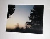 Fog Photo Print  - Morning Fog Photo - Foggy Marsh - 8 x 10 Photograph - Marsh Fog Photo - Lanscape Photo