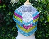 Crochet pattern : wild flower meadow shawl