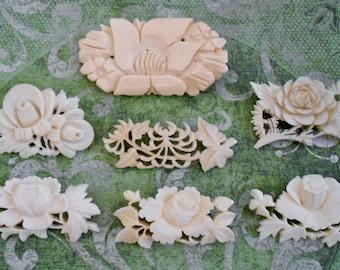 Carved Bone Pins