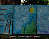 Bob Dylan's Forever Young - Original Canvas Illustrated Painting - Child's Room Nursery Art - Three Panels - Choose Your Size and Colors
