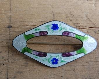 Edwardian enamel sash brooch ∙ PARC MONCEAU