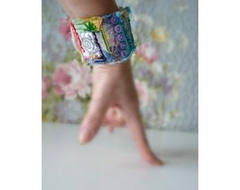Handmade felted wool bracelet