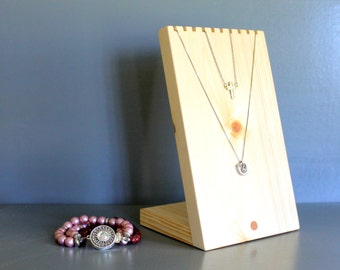 6x 9 Wooden Necklace Display Board, Organic Beeswax, Show piece Holder, Necklace Bust Craft Show Display, Photograph prop, Retail Fixture