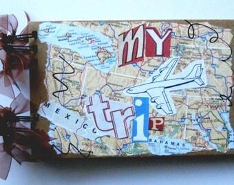Photo album. Photography album. Travel journal. Travel photo album. Small photo album.