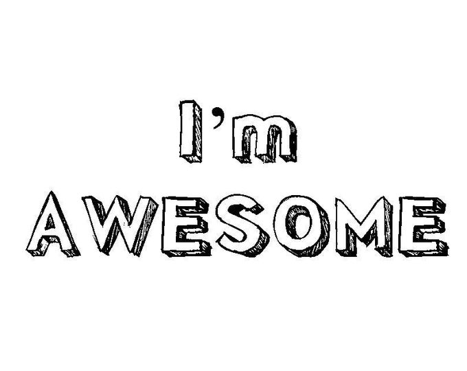 I'm Awesome, Because You're My Dad, Father's day Card, funny, snarky, humorous, made on recycled paper, comes with envelope and seal
