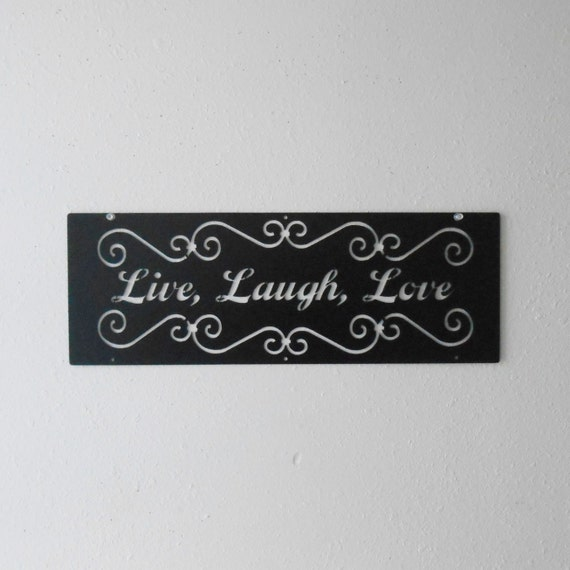 Live Laugh Love / Metal Art / Wall Decoration / Metal Sign / Home Decor / Wall hanging / Family /