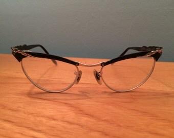 Vintage 1950's Cat Eye Eye Glasses