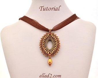Tutorial Super Diamond Pendant - Beading pattern, PDF, Instant download,Jewelry Tutorial