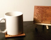 Coffee with Scripture coaster the Lord's Prayer