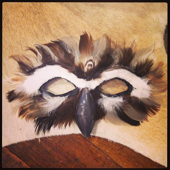 hnliche artikel wie burrowing owl maske maske halloween eule eule kost m in owl auf etsy. Black Bedroom Furniture Sets. Home Design Ideas
