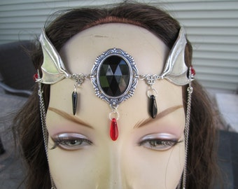 Maiden of the Night Circlet Elven Celtic Vampire Goth Priestiess Goddess Druid LARP Cosplay