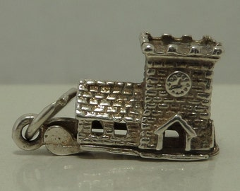 MOVABLE WEDDING Church Sterling Silver Charm or Pendant - English Church