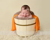 Tangerine Stretch Knit Wrap Newborn Baby Photography Prop
