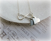 Infinity necklace, Sterling silver infinity necklace, Love necklace - HappyTearsbyMicah