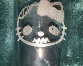 Zombie Hello Kitty Glass