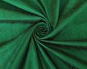 "Emerald Green 100% dupioni silk fabric yardage By the Yard 45"" wide"