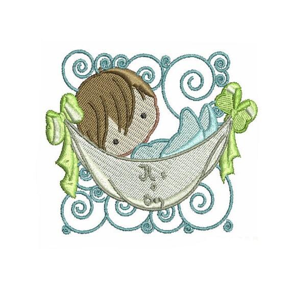 Baby machine embroidery designs pattern boy