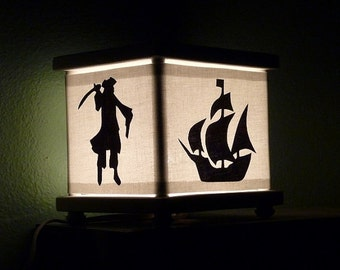 Pirate Night Light Ship Skull Crossbones Octopus Lamp