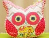 BWinks Stuffed owl pillow - Room decor owl friend -