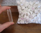 Lot of  200 Glass Specimen Jar Vials with Screw on Caps for Weddings or Crafts