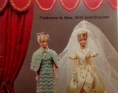 """Doll Book Fashions for 11-1/2"""" Doll Sewing Knit Crochet Pattern Barbie Clothes Dresses Gowns Sportswear Coats & Clarks Book 173"""