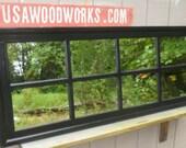 black  mirror  headboard  mantel  wall ,  .  56 wd x 24  ..USAWOODWORKS..