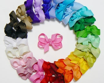 Girls Infant Hair Bow Set Newborn Small Tiny Little Baby Bows Toddler Childrens Kids Boutique  Fashion Hair Clip Hairbows (Set of 25)