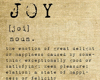 INSTANT DOWNLOAD - Joy Dictionary Definition - Download and Print - Image Transfer - Digital Collage Sheet by Room29 - Sheet no. 1168