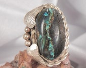 Sterling King Manassa Turquoise Ring