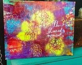 """This Blessed Moment Abstract Mixed Media Painting 20""""x16"""""""