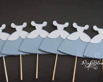 Cinderella  Ball Gown Cupcake Toppers