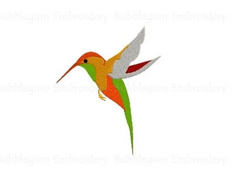 Hummingbird Embroidery Design Instant Download