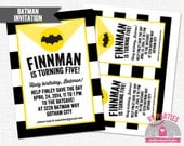 Batman Invitation for Birthday or Shower PDF