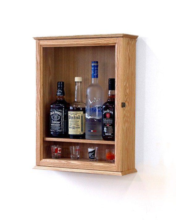 locking liquor cabinet wall mounted. Black Bedroom Furniture Sets. Home Design Ideas