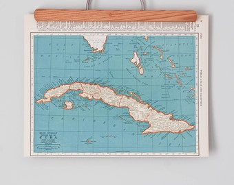 1930s Antique Maps of Cuba and the West Indies
