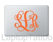 Customized Script Monogram Laptop Decal - Free US Shipping