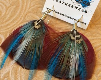 Frosted Small Feather Earrings