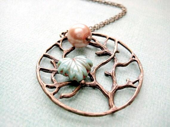 Tree Necklace, Maple Leaf Necklace,Autumn Jewelry