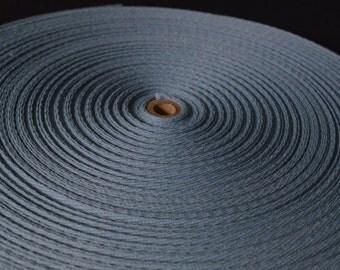 3/4 inch blue cotton twill tape 10 yd. piece