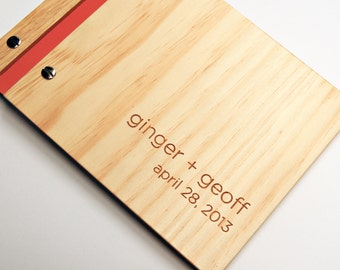 Guestbook Wedding. Small Wedding Guest Book. Laser Wood Book. Engagement Book. Anniversary Gift